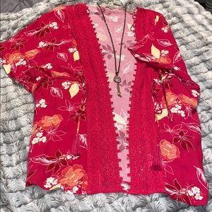 The Mint Julep Floral Kimono